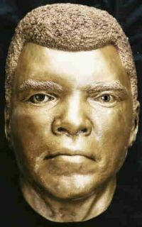 Muhammad Ali Life Mask Eyes of Champ Gold Boxing Art