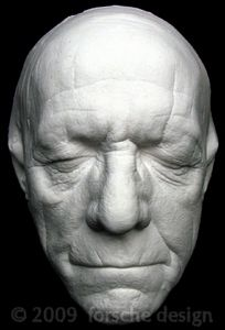 Trevor Howard Life Mask Bust Cast Superman Mutiny on The Bounty The