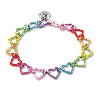 CHARM IT Rainbow Heart Link Charm Bracelet   Starter
