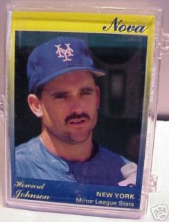 1991 Star Nova Howard Johnson New York Mets 9 Card Set
