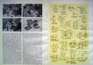 1946 How to Build Vertical Slide Valve Model Steam Engine Original