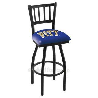 Pittsburgh Panthers Logo Black Wrinkle Swivel Bar Stool