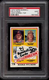 1978 Topps Cello Pack Jack Morris & Gary Carter ROOKIE Visible PSA 9