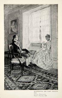 Washington Mary Philipse Colonel Harper Magazine Portrait Howard Pyle
