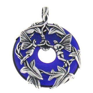 Sterling Silver Fairy Couple Loving Fairies Family Cobalt