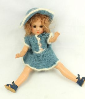 Vintage Mary Hoyer Composition Doll Jointed Body and Sleepy Eyes