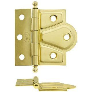 Half Mortise Hinges. Pair of 2 1/2 Half Surface Cabinet Hinges With