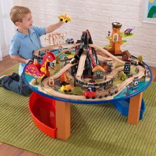 KIDKRAFT VOLCANO TRAIN TABLE WITH 95 PIECE TRAIN SET