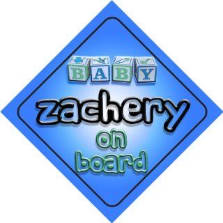 Baby Boy Zachery on board novelty car sign gift / present