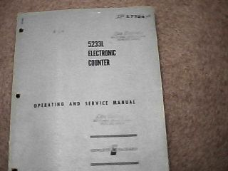 HP 5233L Electronic Counter Operating and Service Manual