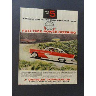 1956 Plymouth Belvedere 4 door hardtop sport sedan, print