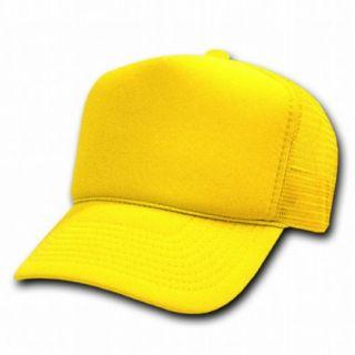 DECKY Solid Color Trucker Mesh Caps Plain Baseball Hat