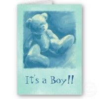 Blue Teddy Thank U for Babys Gift card
