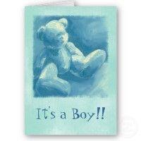 Blue Teddy Thank U for Babys Gift card