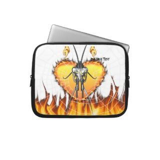 Chromed praying mantis design 3 with fire and web. laptop computer