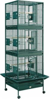 HQ Parrot Bird Cages 12422 Triple Stack Cage 24x22 Toy Toys Eclectus