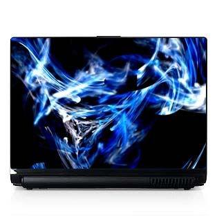 Laptop Computer Skin Dell PC HP Blue Smoke 019