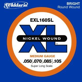 Guitar Strings, Medium, 50 105, Super Long Scale Musical Instruments