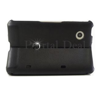 HTC Flyer Tablet EVO View 4G Black Leather Case Stand