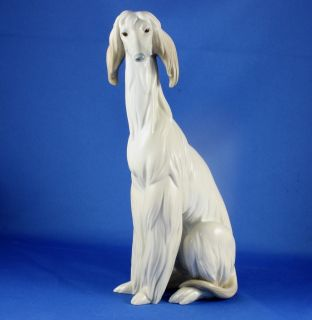 Afghan Hound Dog Porcelain Figurine 1069 Juan Huerta Retired 1985