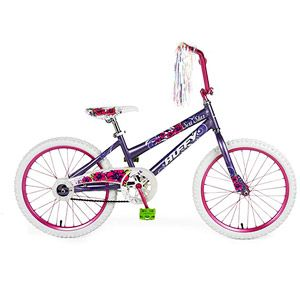 Huffy Girls Purple Bicycle features classic BMX style steel frame Jr