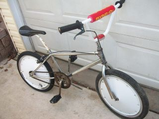 OLD SCHOOL BMX BIKE 1984 STU THOMSEN HUFFY RACING 20 BICYCLE DISC DISK