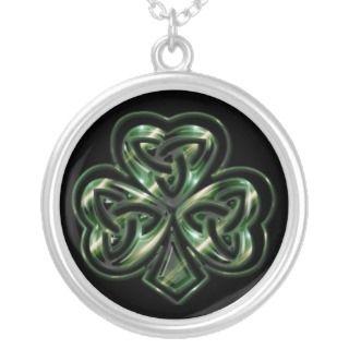 Celtic Shamrock Design 2 Necklace