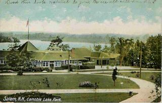 Salem New Hampshire NH 1906 Canobie Lake Park Casino Vintage Postcard
