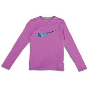 Nike Rainbow Swoosh L/S T Shirt   Girls Grade School   Casual