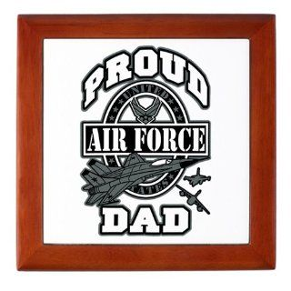 Keepsake Box Mahogany Proud Air Force Dad Jets: Everything