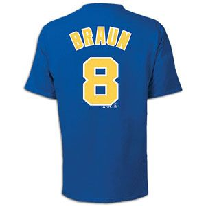 Majestic MLB Name and Number T Shirt   Mens   Ryan Braun   Brewers