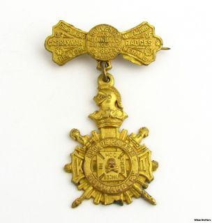 Knights Templar   Vintage 1800s Souvenir KT Cross Medal York Rite