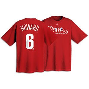 Majestic MLB Name and Number T Shirt   Mens   Ryan Howard   Phillies
