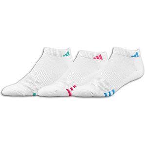 adidas Variegrated 3 Pack Low Sock   Womens   White/Fresh Splash/Aero