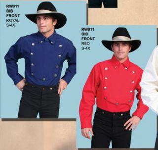 RW011 Scully Western Cowboy Bib Cavalry Shirt Engineer XL Red