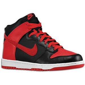 Nike Dunk High   Mens   Basketball   Shoes   Black/Sport Red/White