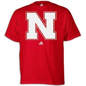 adidas College Logo T Shirt   Mens   Basketball   Fan Gear   Nebraska