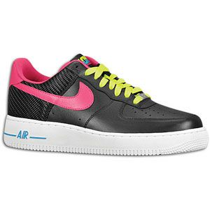 Nike Air Force 1 Low   Mens   Basketball   Shoes   Black/Fireberry