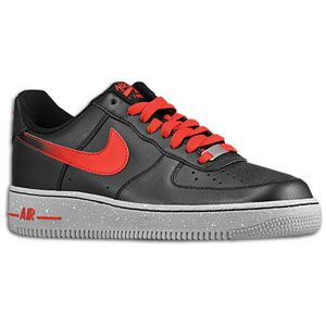 Nike Air Force 1 Low   Mens   Basketball   Shoes   Black/Challenge