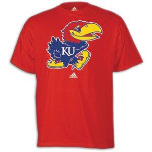 adidas College Logo T Shirt   Mens   Basketball   Fan Gear   Kansas