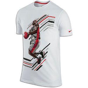 Nike Lebron Action T Shirt   Mens   Basketball   Clothing   White