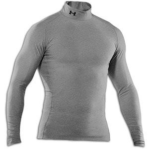 Under Armour Coldgear Game Day Compression Mock   Mens   True Grey