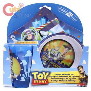 Toy Story Buzz Woody Kids Dining Dinner Ware Plate Bowl Thumbler 3pc