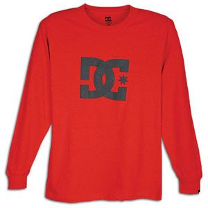 DC Shoes Star L/S T Shirt   Mens   Skate   Clothing   Athletic Red