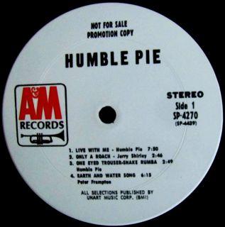 RARE 1970 White Label Promo Humble Pie Hard Blues Frampton Marriot
