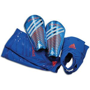 adidas Predator Pro Moldable Guards   Bright Blue/Infrared/Collegiate