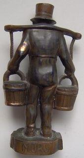 Metal Figurine Paperweight HUMMEL MORS German Man Water Buckets