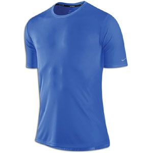 Nike Dri Fit Softhand S/S Running T Shirt   Mens   Signal Blue/Signal