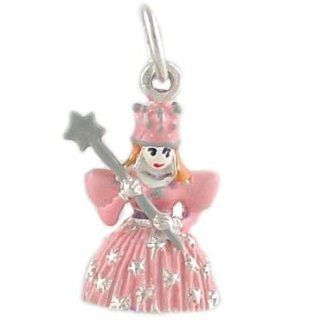 Pretty Pink Princess 925 Sterling Silver and Enamel Traditional Charm