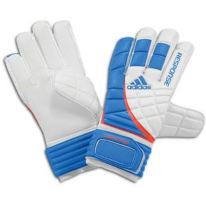 adidas Response Competition Goalkeeper Gloves   White/Fresh Blue/Dark